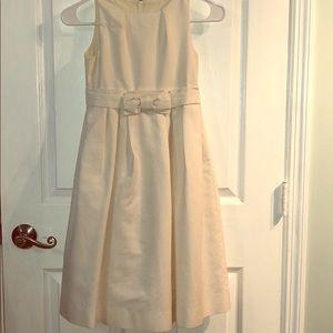 Cream flower girl dress.